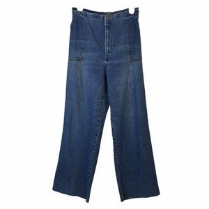High-Waisted Jeans Wide Leg Upcycled Elastic Back